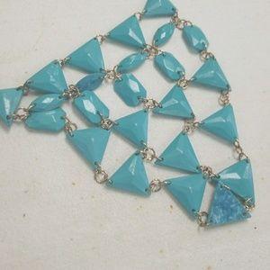 Fortner Frenzy Jewelry - Aqua NECKLACE